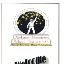 Image of Welcome to District 123, 2011 - Promotional brochure highlighting Oak Lawn-Hometown School District 123 published in 2011.  Includes a map, photographs of the schools, recent improvements, and student statistical information. Schools include Oak Lawn-Hometown Middle School, Covington, Brandt, Hannum, Kolmar, Sward, and Hometown.