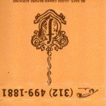 Image of Field's Restaurant Matchbook - This item is a matchbook from Field's Restaurant located at 10401 South Cicero Avenue in Oak Lawn. It is orange in color and features a logo and contact information.