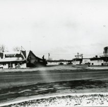 Image of Shoot's Tavern and Fisher's Motel - This is a photograph of Shoot's Tavern and Fisher's Motel which were located at 5920 West 95th Street (and Southwest Highway). Both of these businesses were destroyed during the 1967 Tornado.