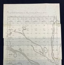 Image of 1834 Map of Worth Township  - Map of Worth Township drawn up by the Surveyors Office on July 31st, 1834. Present day Oak Lawn exists in sections eight and nine. Oak Lawn Creek and Stony Creek are visible in this area as well.
