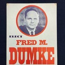 Image of Fred Dumke Political Poster