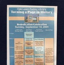 Image of Oak Lawn Public Library Rededication Poster