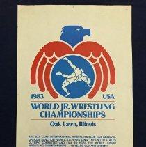 Image of World Jr. Wrestling Championships Poster