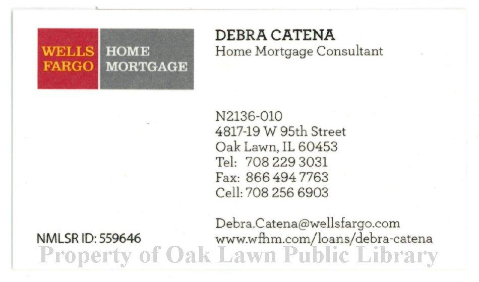 Wells Fargo Home Mortgage Business Card 2016 Wells Fargo Home