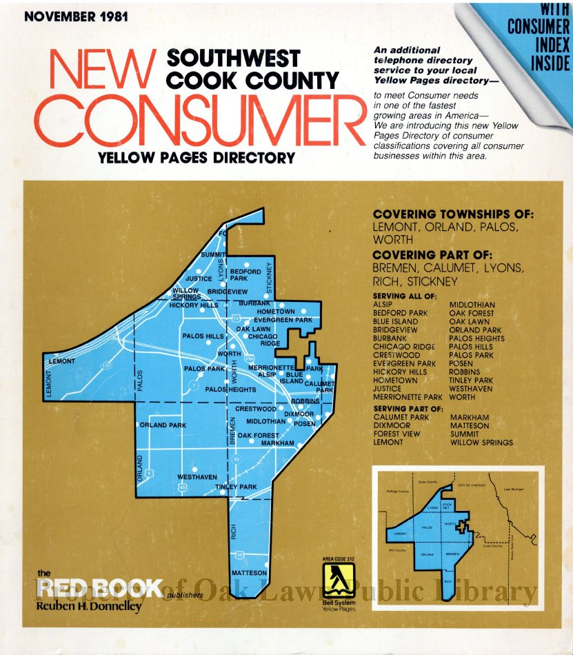 1981, Southwest Cook County New Consumer Yellow Pages