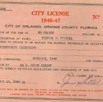 Image of 1980.091.0001 - License, Occupational