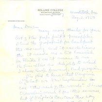 Image of 1982.062.0004 - Correspondence