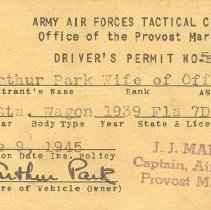 Image of AAFTC Driver's Permit
