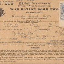 Image of Ration Books 1 & 2 (Covers)