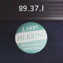 Image of 1989.037.0001 - Button, Political