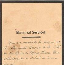 Image of Memorial service invitation