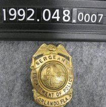 Image of 1992.048.0007 - Badge, Police