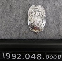 Image of 1992.048.0008 - Badge, Police