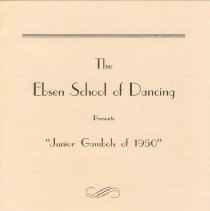 Image of Ebsen School of Dancing Cover