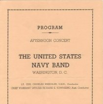 Image of Navy Band Program Cover