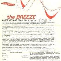 Image of 1993.113.0002 - Newsletter