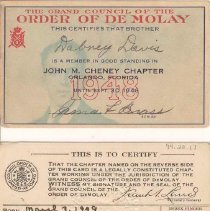 Image of Order of De Molay Membership C