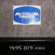 Image of 1995.019.0006 - Sticker, Bumper