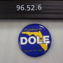Image of 1996.052.0006 - Button, Political