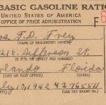 Image of Gasoline Ration Card (FF5)