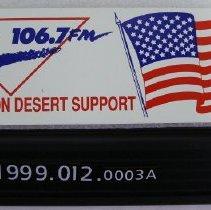 Image of 1999.012.0003a - Sticker, Bumper