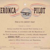 Image of Sample Pilot's Certificate