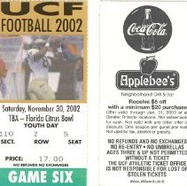 Image of UCF Tickets (Front and Back)