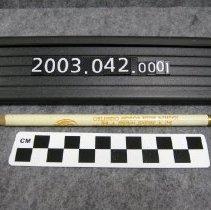 Image of 2003.042.0001 - Pencil