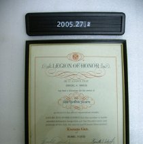 Image of 2005.027.0002 - Certificate