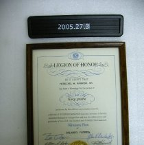 Image of 2005.027.0003 - Certificate