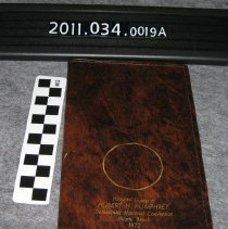 Image of 2011.034.0019a - Notebook