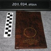 Image of 2011.034.0020a - Notebook