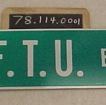 Image of 1978.114.0001 - Sign