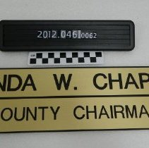 Image of 2012.046.0062 - Nameplate