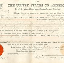 Image of David M. Griffin Homestead Certificate (Box 3 FF 10)