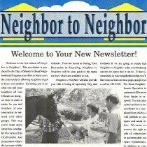 Image of 2013.001.0143 - Newsletter