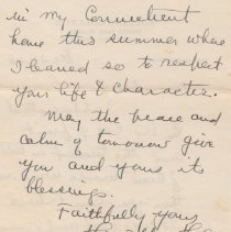 Image of Hamilton Holt to Donald Cheney letter Dec. 24, 1950 pg. 2