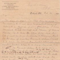Image of Agreement to sell San Juan Hotel, 1894 page 1