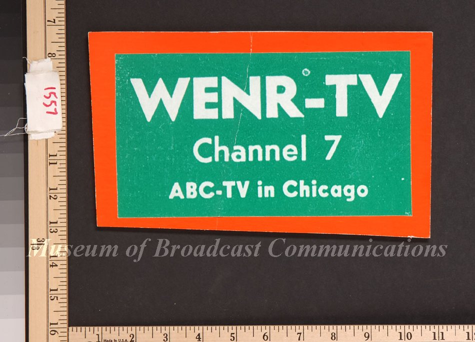 Object Name Sign Item WENR TV Channel 7 Logo