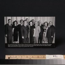 Image of Photograph - Photo - Marian & Jim Jordan w/large cast in front of NBC mic