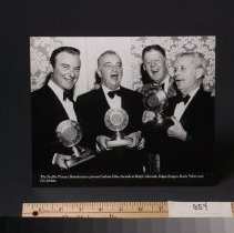 Image of Photograph - Photo - Pacific Pioneer Broadcasters presenting Carbon Mike Awards