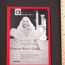 Image of Ad, Print - WBKB ad for Princess Mary's Castle [1957]