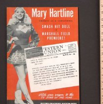 Image of AR_00234 - Marshall Field's ad for Mary Hartline Doll