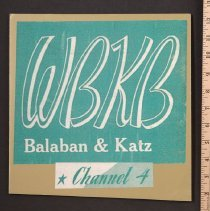 Image of AR_00185 - WBKB Balaban & Katz Channel 4 Logo