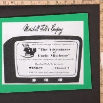 Image of AR_00132 - Marshall Field's Sponsored ad for The Adventures of Uncle Mistletoe