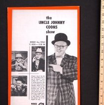 Image of Ad, Print - WBKB ad for Uncle Johnny Coons Show
