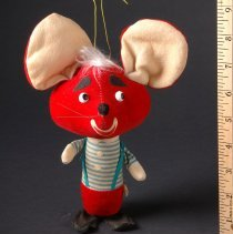 Image of AR_00667 - Red Mouse Puppet - Topo Gigio of The Ed Sullivan Show