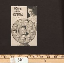 Image of Postcard - Postcard - WJJD - Billy Sunshine and Dave Bennet's Orchestra
