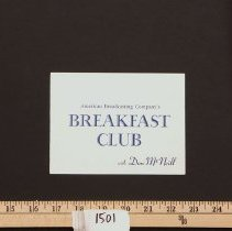 "Image of Postcard - Postcard - Don McNeill ""Breakfast Club"""