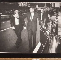 Image of Photograph - Photo - JFK getting out of car